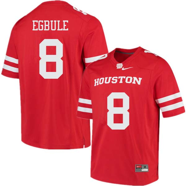 Men #8 Emeke Egbule Houston Cougars College Football Jerseys Sale-Red